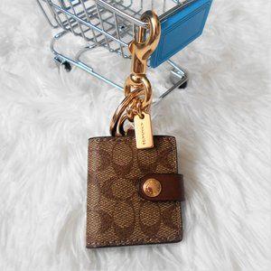 Coach Picture Frame Bag Charm Keychain  Khaki